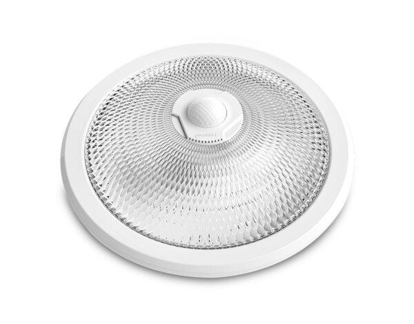 Плафон със сензор и LED лента, обхват 3 x 8 m/360° - 2 x E27, бял