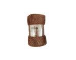 Одеяло Mika Popcorn micro fleece - 150 х 200 cm, светлокафяво