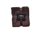 Одеяло Mika Waved Flanel Fleece - 150 х 200 cm, светлокафяво