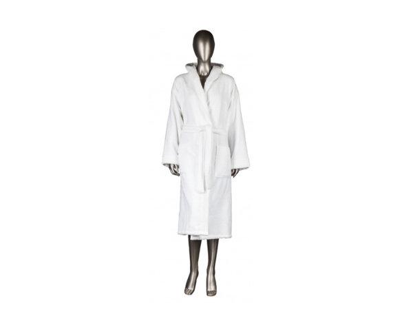 Халат за баня Mika Exclusive, с качулка - бял, различни размери