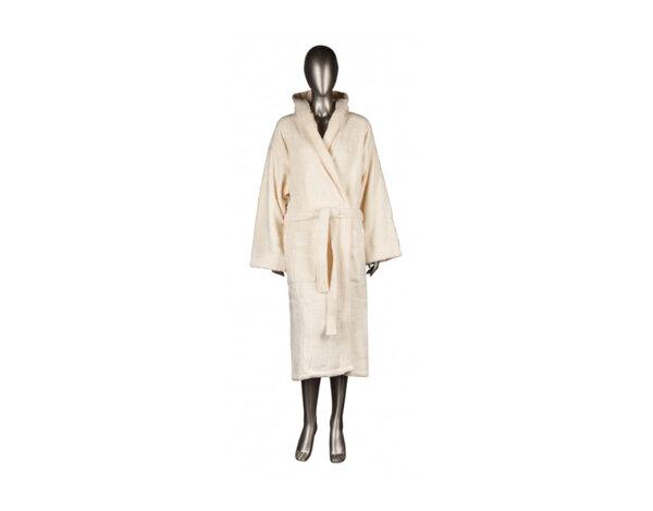 Халат за баня Mika Exclusive, с качулка - екрю, различни размери