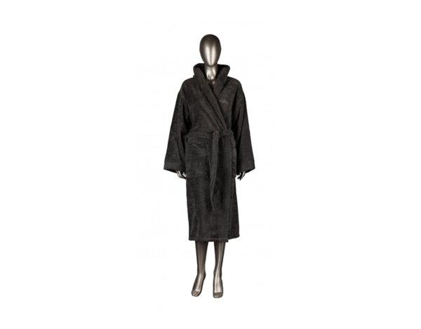 Халат за баня Mika Exclusive, с качулка - сив, различни размери