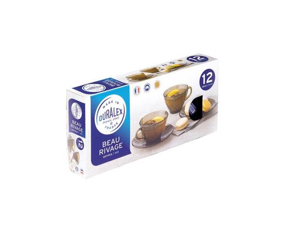 Сервиз за чай Duralex - 12 части, 188 ml