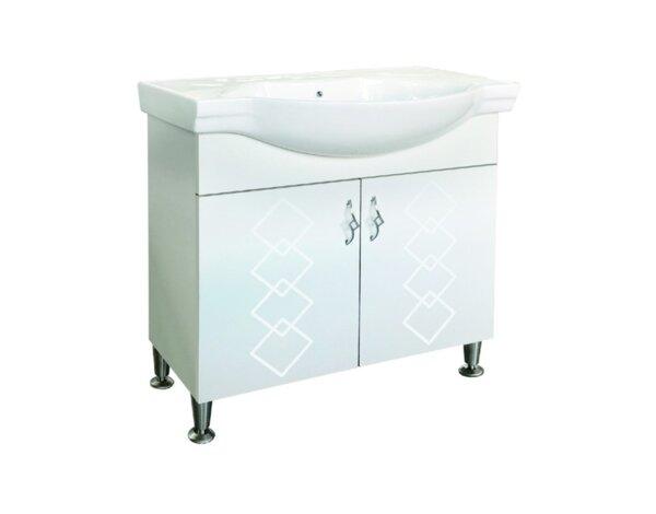 """Шкаф за баня с мивка """"Давид"""" ICP 6549 - 80 х 85 х 46 cm, PVC"""