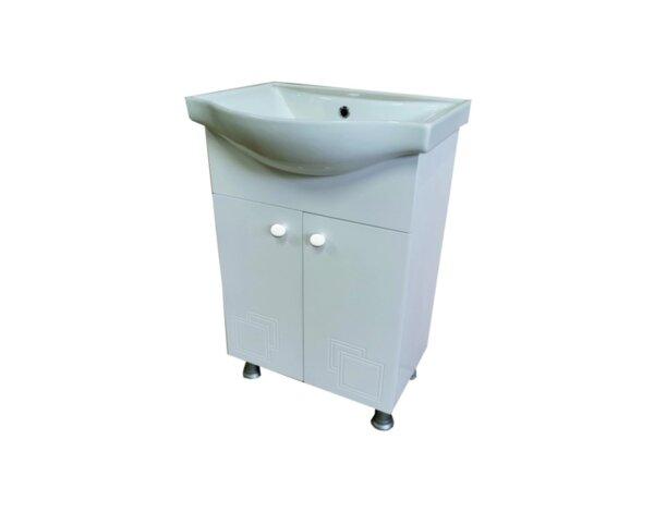 """PVC шкаф за баня с порцеланов умивалник """"Кала"""" - 55 х 85 х 43 cm"""