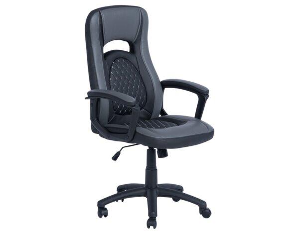 Офис стол Carmen 6095 - черно и сиво