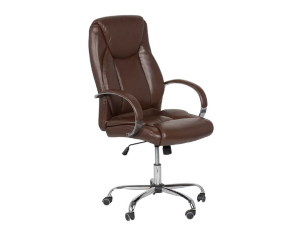 Офис стол Carmen 6501 - искрящо кафяво