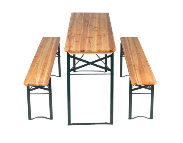 Градинска маса с пейки - 170 x 46 x 75 cm