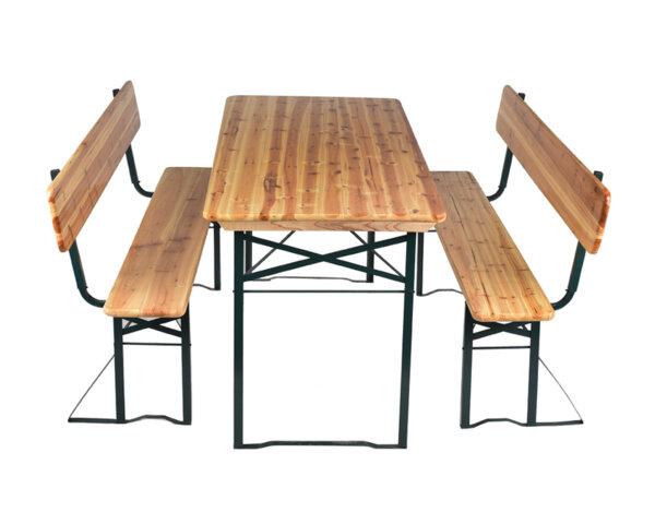 Градинска маса с пейки с облегалки - 170 x 70 x 75 cm