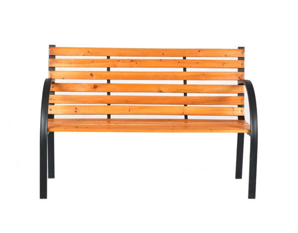 Градинска пейка, дървена - 122 x 60 x 80 cm