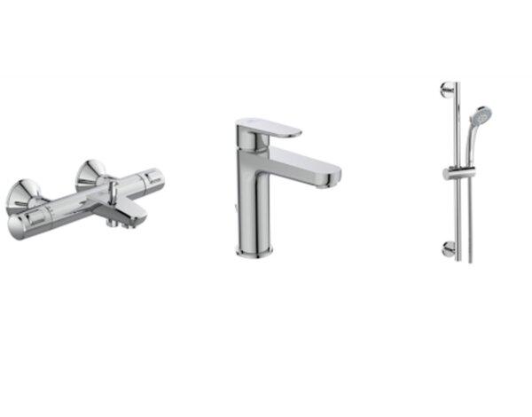 Комплект оборудване за баня Cerafine O и Ceratherm T25 - 3 в 1