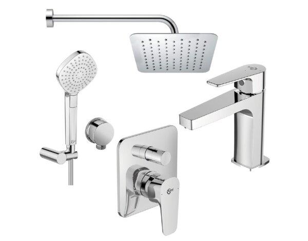 Комплект душ за вграждане Esla и смесител за умивалник