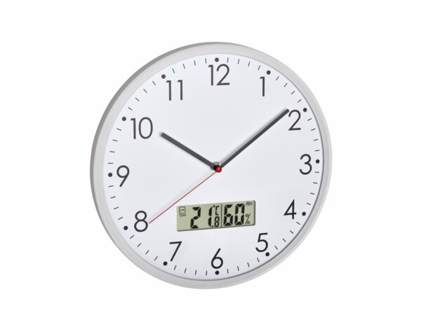 Аналогов часовник с термометър и хигрометър - ø302 х 47 mm