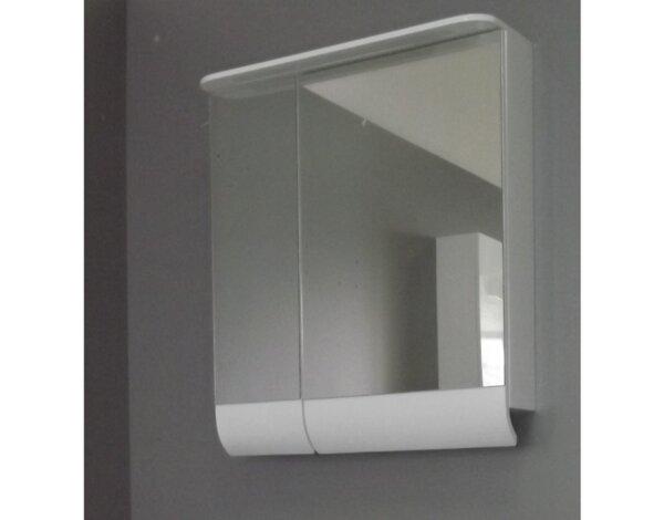 """Горен шкаф """"Екатерина"""" с огледало - 65 х 72 х 15 cm, бял"""
