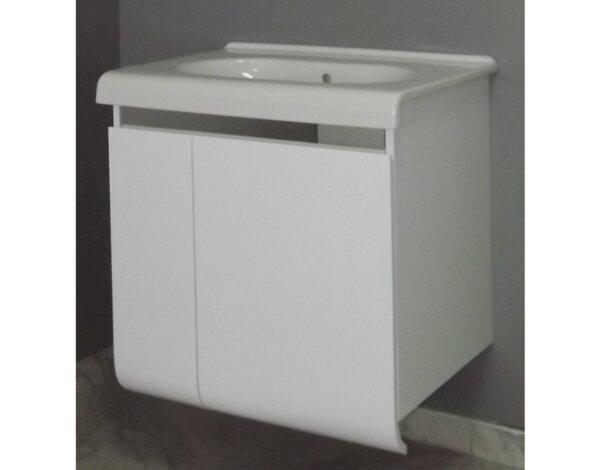"PVC долен шкаф с умивалник ""Екатерина"" - 65 x 64 x 42 cm, бял"