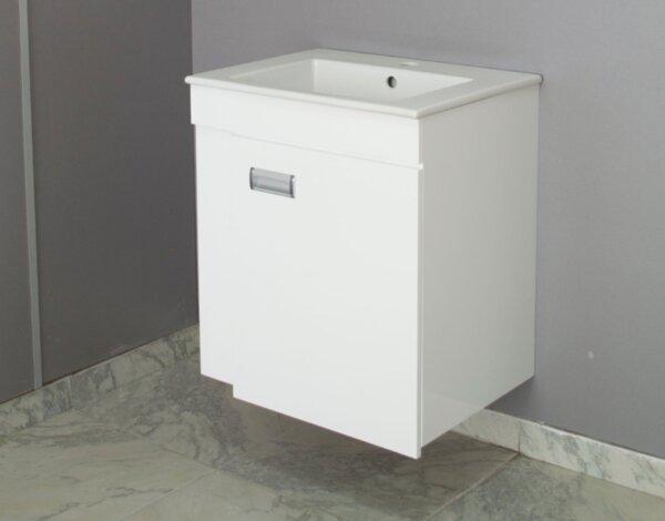 "PVC долен шкаф с умивалник ""Лина"" - 55 х 63 х 43 cm, конзолен"