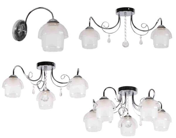 Серия осветителни тела Lea - хром, различни модели