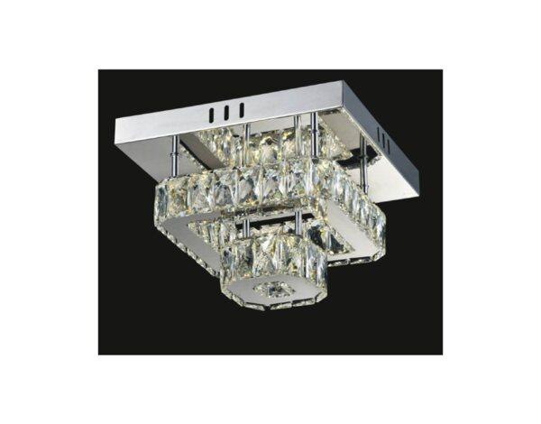 LED полилей Kara, хром/кристали - 16 W, 4000 K