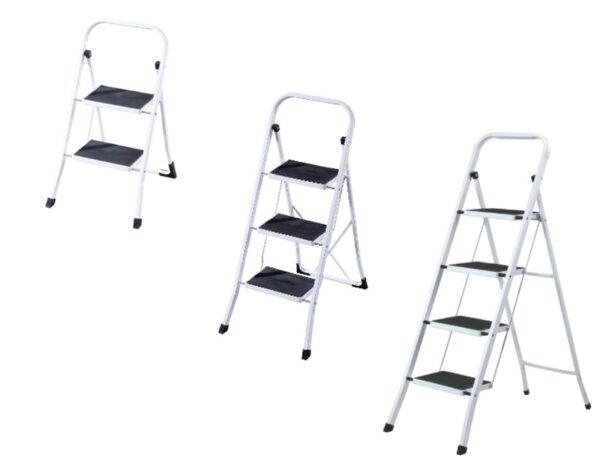 Домакинска стълба с гумирани стъпала - различни видове