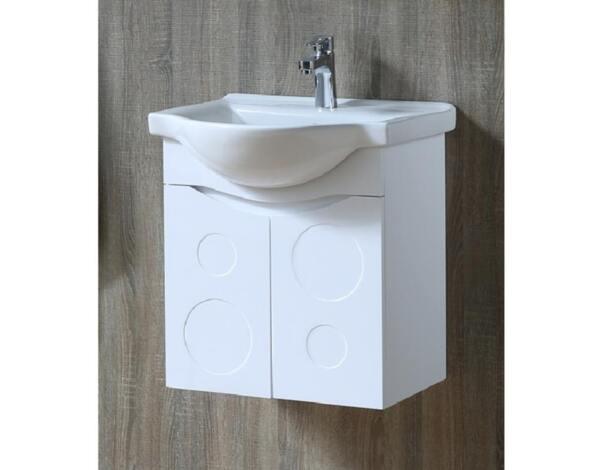 """Долен шкаф за баня """"Томас"""", конзолен - 55.5 x 60 x 50 cm"""