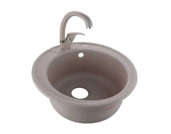 Гранитна мивка със смесител 237012 - пясъчен цвят