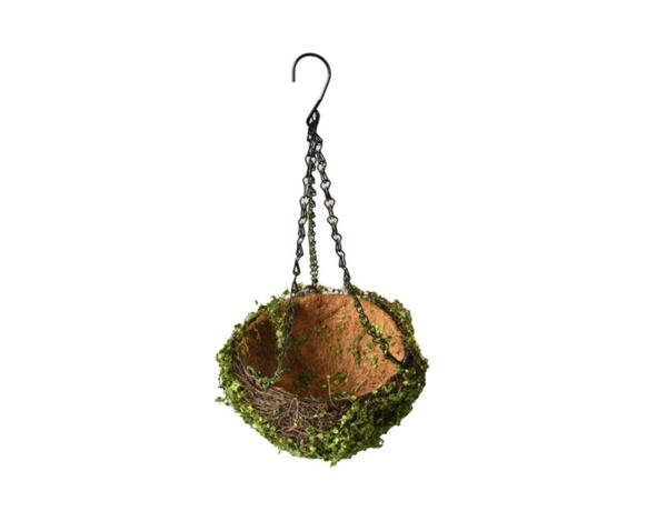 Кокосова саксия с декорация - висяща, различни размери