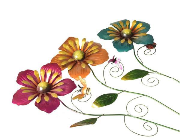 Декоративно цвете за градина - метално, 85 cm