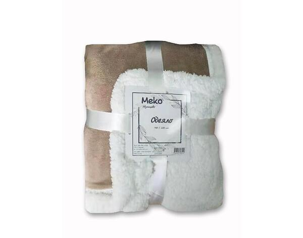 """Полиестерно одеяло """"Дабъл фейс"""" 15-1309 TPX - 140 х 200 cm, бежово"""