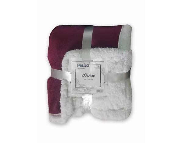 """Полиестерно одеяло """"Дабъл фейс"""" 15-1309 TPX - 140 х 200 cm, лилаво"""