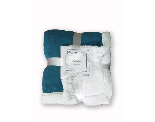 """Полиестерно одеяло """"Дабъл фейс"""" 15-1309 TPX - 140 х 200 cm, тюркоаз"""