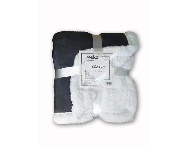 """Полиестерно одеяло """"Дабъл фейс"""" 15-1309 TPX - 140 х 200 cm, сиво"""