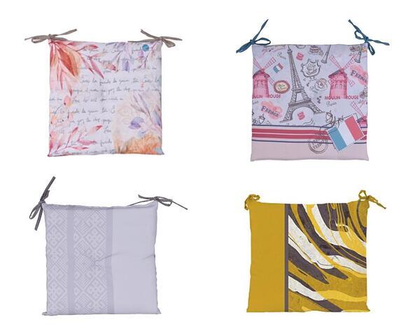 Възглавница за стол - 45 x 42 x 5 cm, различни принтове