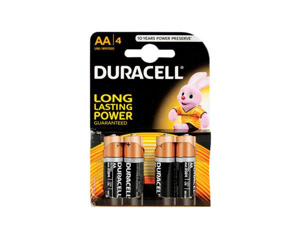 Алкални батерии - 1.5 V, 4 бр., различни видове