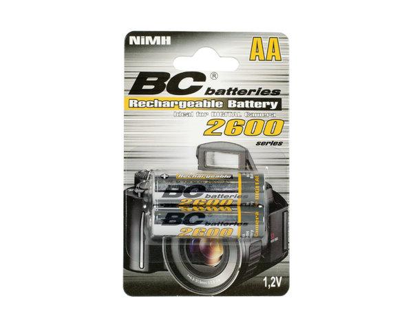 Презареждаеми батерии - 1.2 V/AA/2600 mAh, 2 бр.