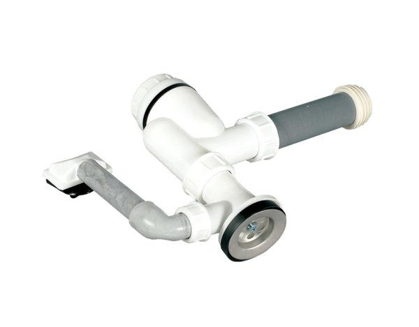 Сифон за мивка с преливник - ø70 mm