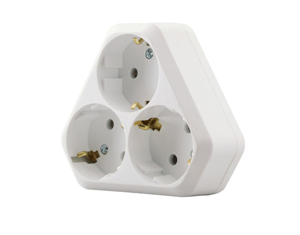 Разклонител с 3 гнезда - различни модели