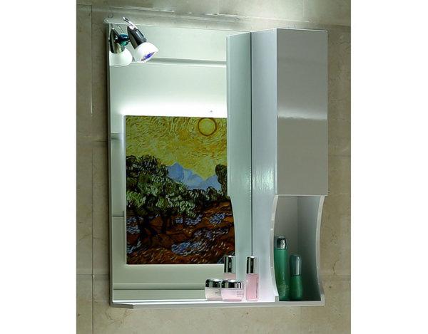 """Горен шкаф за баня """"Валентино"""" - с огледало"""