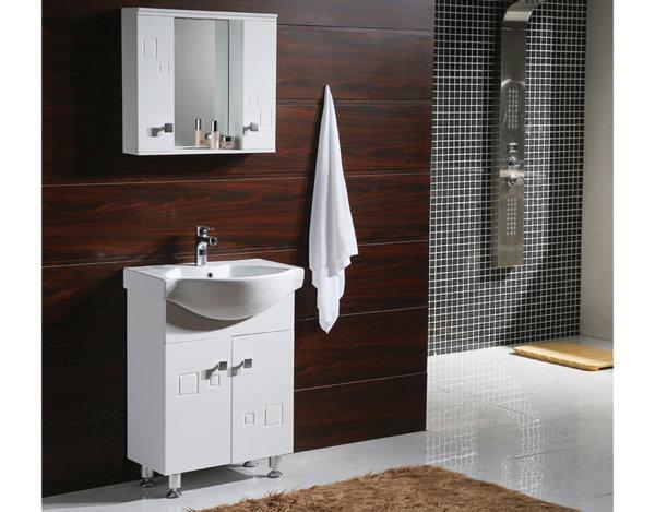 Горен шкаф за баня с огледало - 60 x 55 cm