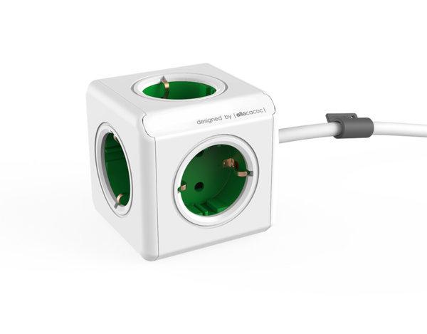 Разклонител PowerCube, 1.5 m - различни цветове
