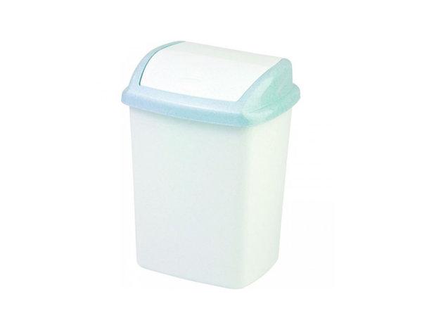 Кошче за отпадъци - бяло/синьо, 10 l