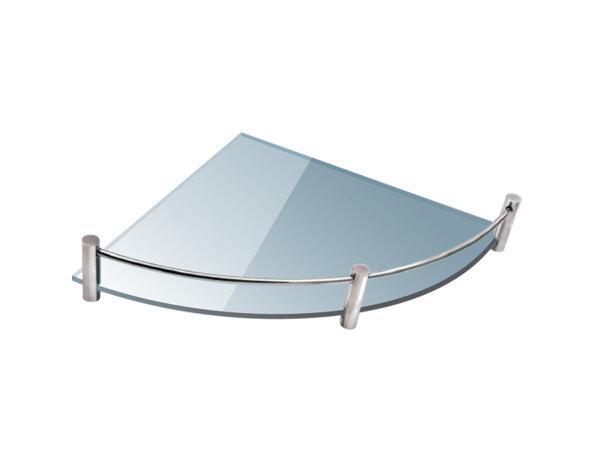 Ъглова полица за баня - матирана, 20 x 20 cm