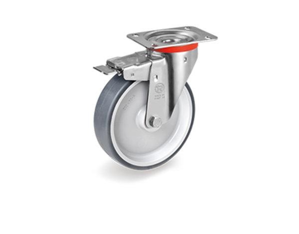 Колело със спирачка - ø80 mm