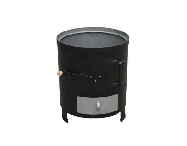 Печка за бойлер на твърдо гориво - ø32 x 44 cm