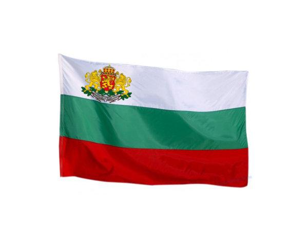 Българско знаме с герб - 90 x 150 cm