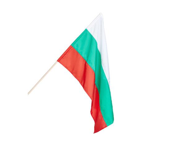 Българско знаме с пръчка - различни размери