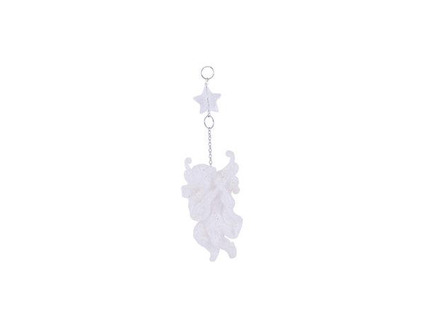Коледна висулка - ангелче, 10 cm