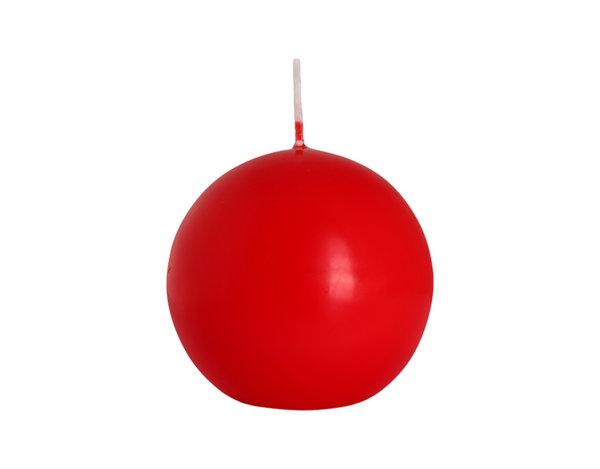 Свещ Ball - червена, ø8 cm