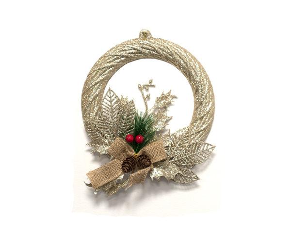 Коледна декорация - венец, 20 cm