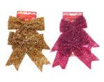 Коледна декорация - 2 бр. панделки, 20 х 20 cm