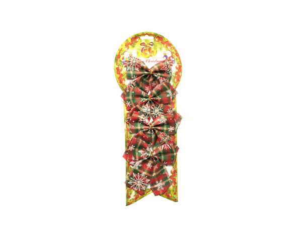 Коледна декорация - 4 бр. панделки, 10 х 10 cm